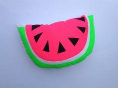 Neon Pop Hand Screen Printed Watermelon Cushion