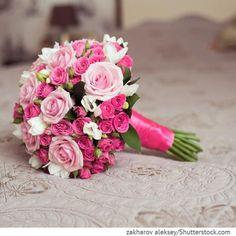 Brautstrauß mit Rosen in pink