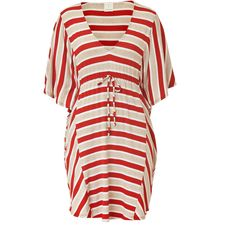 ELLA MOSS Cherry Striped Belted Caftan ($112) ❤ liked on Polyvore