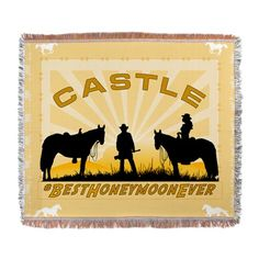 Castle Beckett Woven Blanket Best Honeymoon Ever cases and other designs #RichardCastle  For this design CLICK HERE  http://www.cafepress.com/dd/94894027