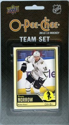 2012/2013 UD O-PEE-CHEE OPC NHL Hockey Dallas Stars Brand New Factory Sealed Complete TEAM Set!! Includes 12 Cards with Loui Eriksson, Brenden Morrow, Derek Roy, Stephane Robidas, Kari Lehtonen, Jamie Benn, Cody Eakin, Richard Bachman, Jaromir Jagr, Ray Whitney, Reilly Smith and Scott Glennie. by Upper Deck. $9.99. Wowzzer!! We are Proud to offer this Brand New Original Factory Sealed 2012/2013 UD O-PEE-CHEE OPC NHL Hockey Dallas Stars Brand New Factory Sealed Complete TEAM ...