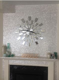 13 Best Mother Of Pearl Tile Used Around The Fireplace Images
