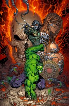 Ghost Rider, The Hulk, Darkness, Witchblade by Marc Silvestri