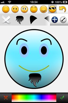 CogniFit MoodCraft is a fun app that allows you to create all type of smiley faces and share them with your friends