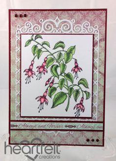 Heartfelt Creations | Red Fuchsia Spray