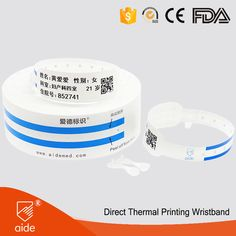 Scannable Hospital Wristbands #QR #barcode #rfid #scanner