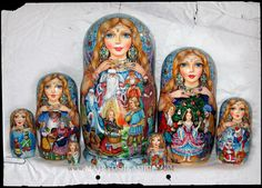 Dolgova - Matryoshka Shop ➕➖Russian Nesting Dolls / Matryoshka Folk Art➕More Pins Like This At FOSTERGINGER @ Pinterest ➖✖️