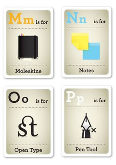 Designed by Emma Cook Makenice.co.za Alphabet Flash Cards for Design-Savvy Hipster Kids (this just makes me laugh)