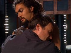 """ok McKay, get off now....or do i have to shoot you..this is when McKay heals Ronan's scars in """"Tao of Rodney"""""""