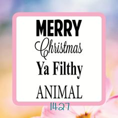 MERRY Christmas Ya Filthy Animal- Reusable Craft Stencil, Decal or Board Design by StencilHeavenForYou on Etsy Christmas Stencils, Merry Christmas Ya Filthy Animal, Stencil Diy, Holiday Gifts, Decal, Board, Handmade Gifts, Projects, Crafts