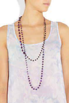Rosantica|Rosarietto 24-karat gold-dipped agate necklace|NET-A-PORTER.COM