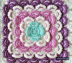 Crochet Square blanket pattern