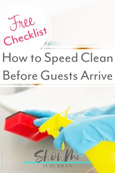 3 Focused Speed Cleaning Checklists for Last Minute Guests - ShowMe Suburban Bathroom Cleaning Checklist, Weekly Cleaning Checklist, House Cleaning Tips, Cleaning Hacks, Cleaning Lists, Cleaning Schedules, Chore List For Kids, Chores For Kids, Kids Sleep