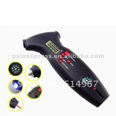 310-818 8-in-1 Professional Digital Multi-Scales 4 mode PSI Bar Kgf/cm2 Kpa Tire Tyre Pressure Gauge