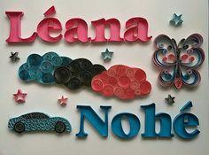 Quilling prénoms Léana/Nohé