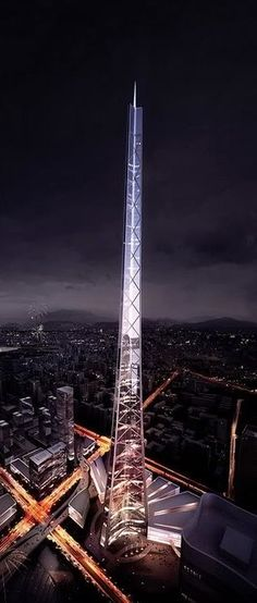 Wuhan Riverfront Erqi Tower, Wuhan, China by Skidmore Owings & Merrill (SOM) Architects :: height 707m, proposal