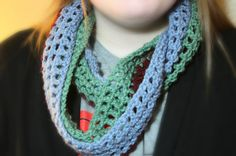 Multi colored infinity scarf by MadeForYouCrafts on Etsy, $12.00