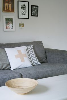 I would love to reupholster my IKEA Karlstad couch in a colour like this. Hmm...