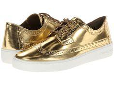 MICHAEL Michael Kors Piers Lace Up Gold Mirror Metallic - Zappos.com Free Shipping BOTH Ways
