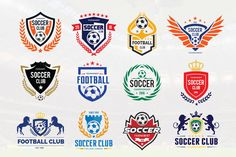 #Soccer #Logo #Football logo collection by Super Pig Shop on @creativemarket