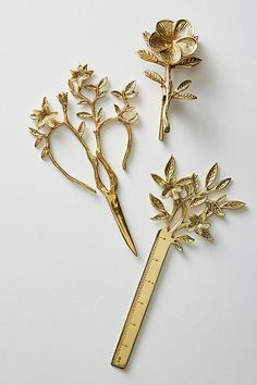 Longwood scissors and ruler Anthropologie form 2018 Gadgets, Gift Guide, Cool Stuff, Stuff To Buy, Home Accessories, Stationery, Fancy, Antiques, Pretty