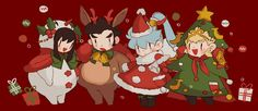 pécher (@OMG_esse)   ทวิตเตอร์ Character Concept, Character Art, Character Design, Christmas Fashion, Christmas Art, Xmas, Sword Art Online Poster, Seven Knight, 3d Poster