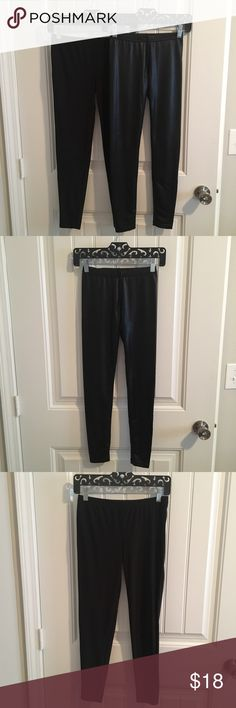 Selling this Lot of Max Azria Black Leather Leggings on Poshmark! My username is: karissa815. #shopmycloset #poshmark #fashion #shopping #style #forsale #Miley Cyrus & Max Azria #Pants