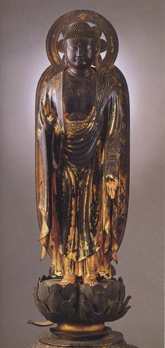 Amitabha Buddha, 1212, attributed to Kaikei or his apprentice, Gyokkeiji temple, Shiga #shiga #japan 阿弥陀如来立像
