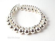 Silver Layered Bracelet - Layered Bracelet - 2 Strand Bracelet - Elementals Collection by NikkiHillsDesign.etsy.com