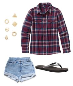 """""""Some flannel style"""" by goldie2023 on Polyvore featuring Shashi, Patagonia, Levi's and Roxy"""