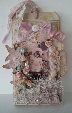 Gorgeous shabby chic tag