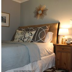 My latest DIY decorating project! // Cardigan Junkie: Guest Room Makeover: Everything Under Fifty Dollars
