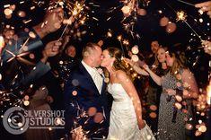 Wedding portrait bride groom sparkler sendoff sparklers