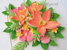 Paper Quilling Flowers, Paper Quilling Cards, Quilling Work, Quilled Paper Art, Paper Quilling Designs, Quilling Paper Craft, Quilling Patterns, Quilling Ideas, Felt Crafts