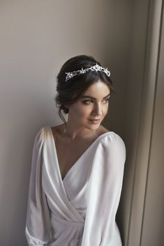 The Romantic Secret Garden Collection by Tania Maras Bridal - Bridal Musings - Beauty Headpiece Wedding, Wedding Veils, Bridal Headpieces, Hair Wedding, Dress Wedding, Boho Headpiece, Bride Tiara, Modest Wedding, Wedding Bridesmaids
