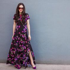 Dutch Crocus Silk Maxi Dress #Anthropologie #MyAnthroPhoto
