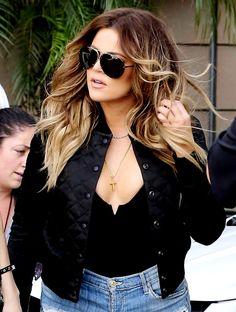4fc3e1f6b3 Khloe Kardashian sunglasses look! Hair Inspiration