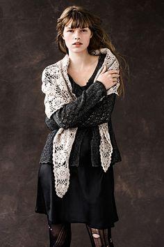 shawl and torn tights