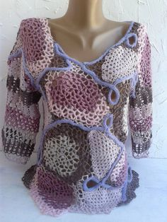 Colored pullover, lace pullover, crocheted, Slim mohair pullover women knitted pullover,pink pullover.