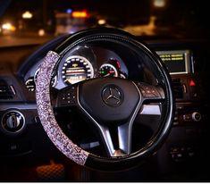 Buy Wholesale Women Diamond Crystal Car Steering Wheel Cover Rhinestone Premium Leather Car-Styling - Black Purple from Chinese Wholesaler Interior Accessories, Car Accessories, Car Steering Wheel Cover, Cheap Cars, Bling, Buy Wholesale, Crystals, Diamond, Purple