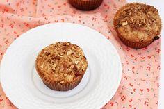 Bite Into Warm Strawberry-Rhubarb Crisp Muffins