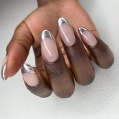 The 17 Most Popular Beauty Products in Every Category Color French Manicure, Classic French Manicure, Cute Nail Art, Cute Nails, Funky Nails, Pastel Blue Nails, Types Of Manicures, Holographic Nail Polish, Nail Photos