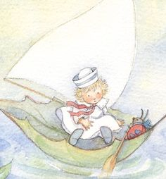 Art illustration for children's books: Out for a sail