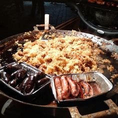 traditional food at the Christmas market in Tallinn
