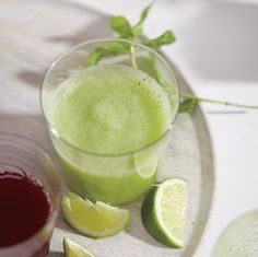 Refreshing and hydrating, this smoothie is a great way to get in a few extra helpings of fruits and veggies.