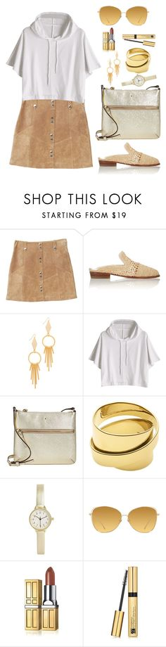 """Untitled #2171"" by ebramos ❤ liked on Polyvore featuring MANGO, Robert Clergerie, Vanessa Mooney, Kate Spade, Dyrberg/Kern, BKE, Linda Farrow, Elizabeth Arden and Estée Lauder"
