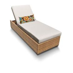 Tuscan Chaise Outdoor Wicker Patio Furniture