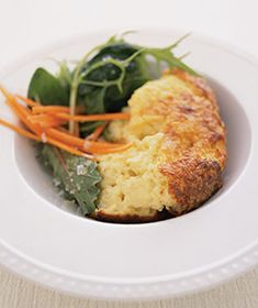 Cheese, Onion, and Bread Souffle