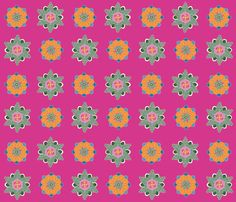 colorful rosettes on pink small fabric by colorofmagic on Spoonflower - custom fabric Fabric Shop, Custom Fabric, Surface Pattern, Rosettes, Spoonflower, Diy Projects, Quilts, Blanket, Wallpaper