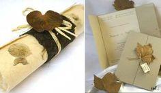 convites para casamento com papel artesanal